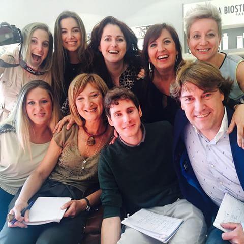 Ander Aldekoa junto con el resto de miembros del jurado del casting Marcel Arranz